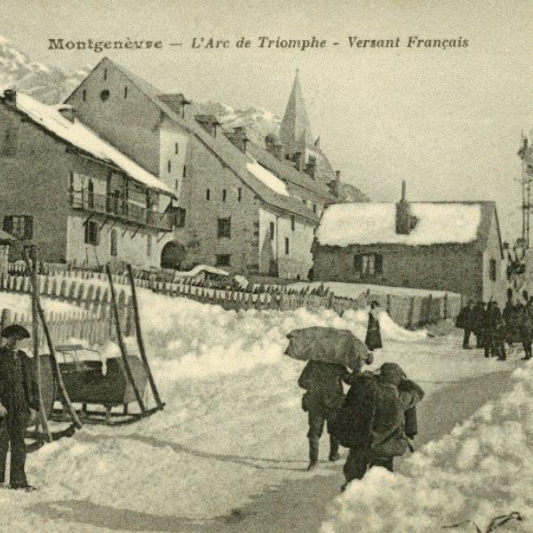 Histoire de Montgenèvre - Arc de triomphe - Concours International de ski 1907