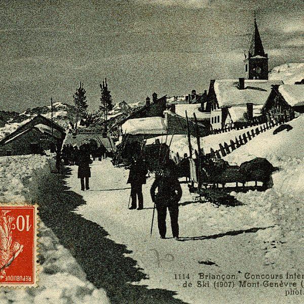 Histoire de Montgenèvre - Concours International de ski 1907