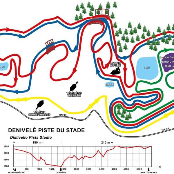 Plan pistes - Ski Nordique - Montgenèvre - Station de ski des Hautes Alpes © Office de Tourisme de Montgenèvre