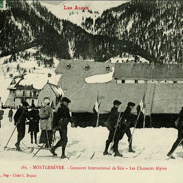 Chasseurs Alpins - Concours International de ski 1907