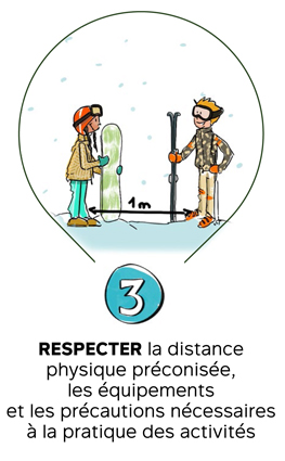 #CetHiverJeSkie - Geste 3 - Respecter la distance