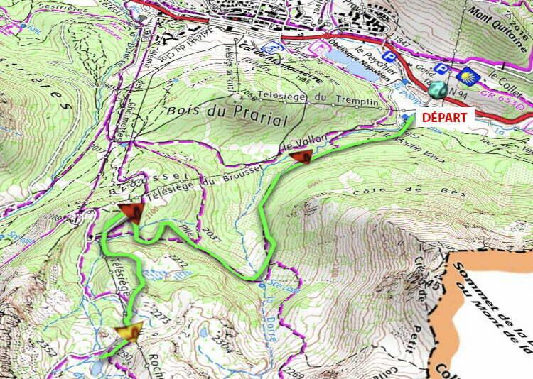Itinéraires Randonnée Balisés - La Trace de l'Aigle - Montgenèvre